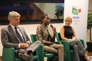 Simone Perillo, Fiona May e Diana Bianchedi
