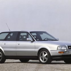 1991: performance-enhanced five-cylinder S engine with overboost control: In the 1991 Audi S4, the Sport version of the Audi 100 (C4), a turbocharged 2.2-liter 20-valve five-cylinder inline engine is at work. It develops 169 kW (230 hp) at 5,900 rpm. Thanks to a brief increase in boost pressure, a peak torque of 350 newton meters (258.15) is achieved at 1,950 revolutions per minute. The engine also powers the Audi S2 Avant (B4) and the Audi S2 Coupé (B3). In 1994, the Audi S4 becomes known as the Audi S6.