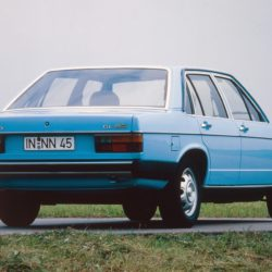 1978: first five-cylinder diesel: In 1978, Audi presents its first diesel model for the Audi 100 (C2). The five-cylinder naturally aspirated engine with a displacement of two liters develops 51 kW (70 hp) and 123 newton meters (90.72 lb-ft) of torque. It also powers the next-generation C3, propelling both the sedans and the Avant versions. From 1984, there is a turbocharged engine with an output of 64 kW (87 hp) and 172 newton meters (126.86 lb-ft) of torque.