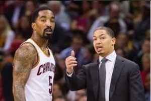 J.R. Smith e Tyronn Lue
