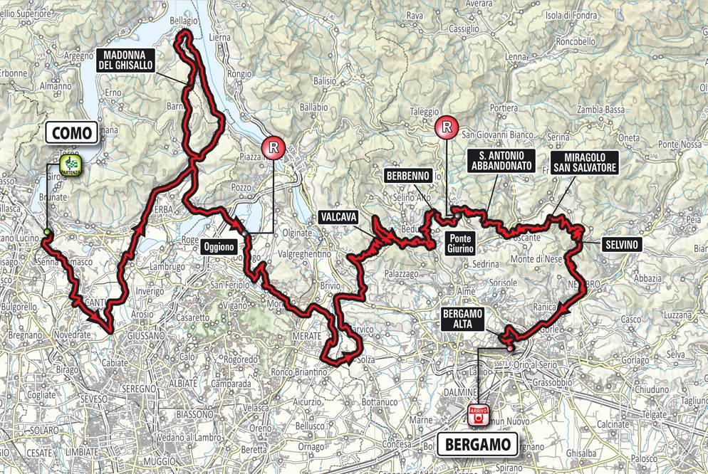 Giro di Lombardia 2016 percorso, altimetria e data