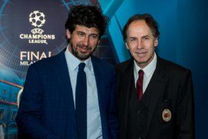 Inaugurazione dell'esposizione della Coppa UEFA Champions League a Milano