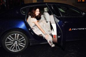 Maserati - Eugenia Silva a bordo di Quattroporte alla premiere del film INFERNO_2016