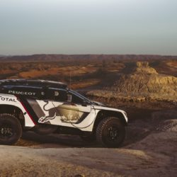 The new Peugeot 3008 DKR in Erfoud, Morocco on September 21, 2016