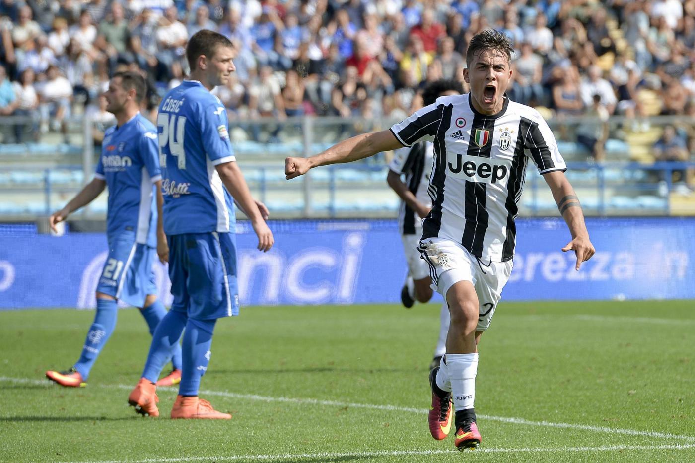 Partita Empoli vs Juventus in diretta, Serie A 2016 Live (12.30)