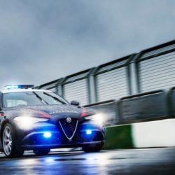 Alfa Romeo Giulia Carabinieri foto in pista (3)