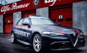 Alfa Romeo Giulia Carabinieri foto in pista (4)