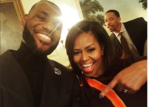 LeBron James e Michelle Obama