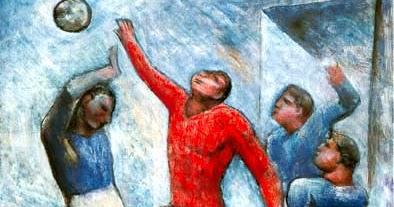 Arte sport carlo carr e la partita di calcio una for Sono due in una partita di calcio