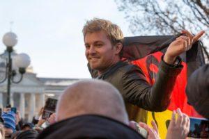 Nico Rosberg in visita a Wiesbaden,sua citta' natale.