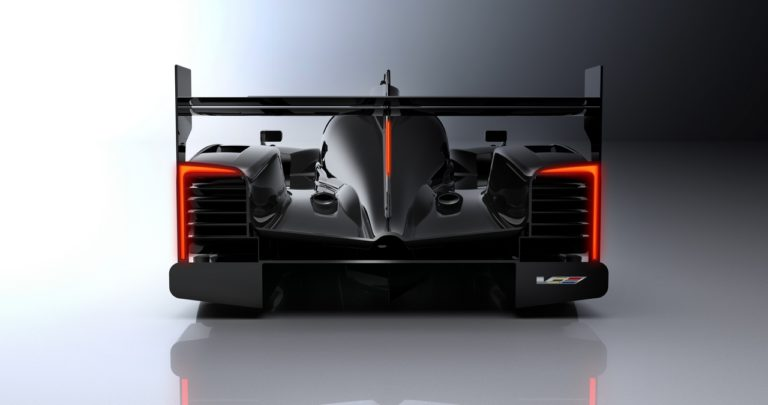 The all-new 2017 Cadillac DPi-V.R race car in Cadillac livery. The design details giving the Cadillac DPi-V.R race car its distinctive Cadillac' appearance and presence include the vertical lighting signature; the sheer, sculptural quality of the body and bold bodyside feature line, V-Performance wheels with Brembo brakes, V-Performance emblems and a canopy graphic inspired by the Cadillac daylight opening.