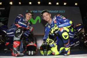 Valentino Rossi Maverick Vinales presentazione Yamaha