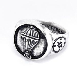 1 anello mongolfiera argento