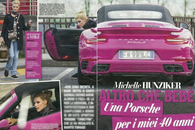 Il marito regala alla Hunziker una Porsche rosa da 220 mila euro