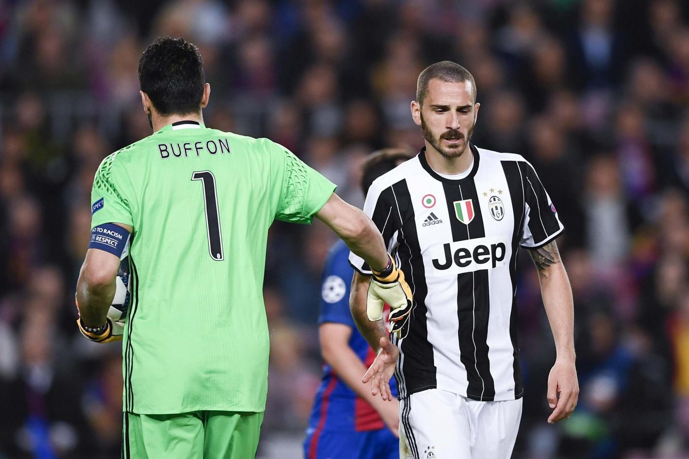 Bonucci e la maglietta di Messi, Chiellini lo 'rimprovera'?