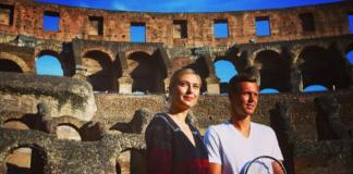 Sharapova e Berdych al Colosseo