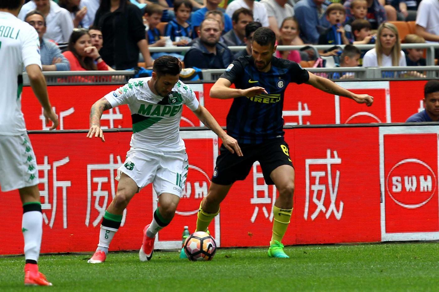 Inter-Sassuolo 1-2, per i nerazzurri è il quarto KO consecutivo