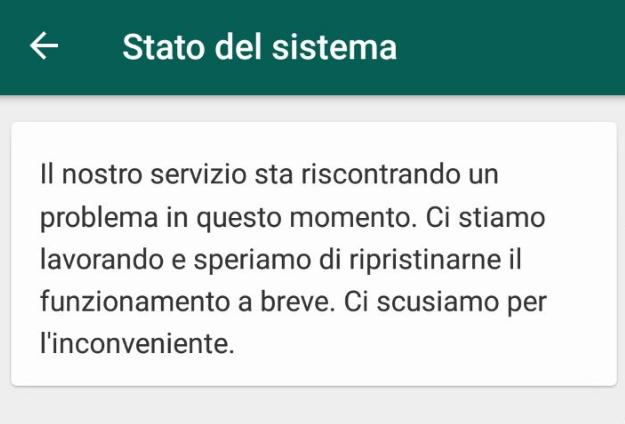 Whatsapp down: problemi per la nota app di messagistica istantanea