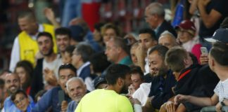 Donnarumma con Enzo Raiola