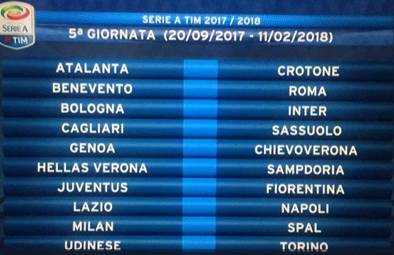 Oggi nasce la nuova Serie A: subito Juve o Roma per l'Inter?