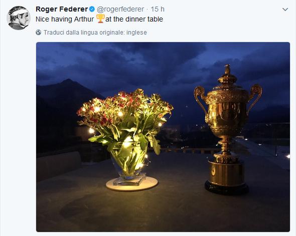 Roger federer e quella cena speciale non immaginerete mai for Ospite inglese