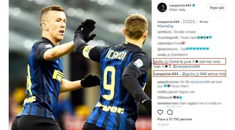 Perisic risponde a un tifoso su Instagram:
