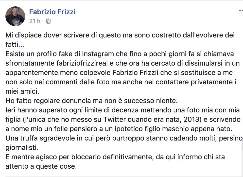 Fabrizio Frizzi infuriato: