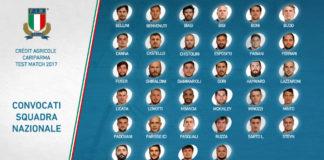 rugby italia convocati