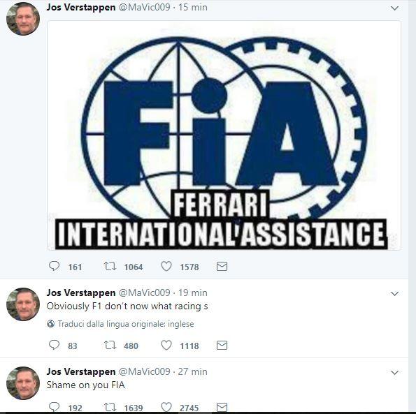 F1, il padre di Verstappen attacca: