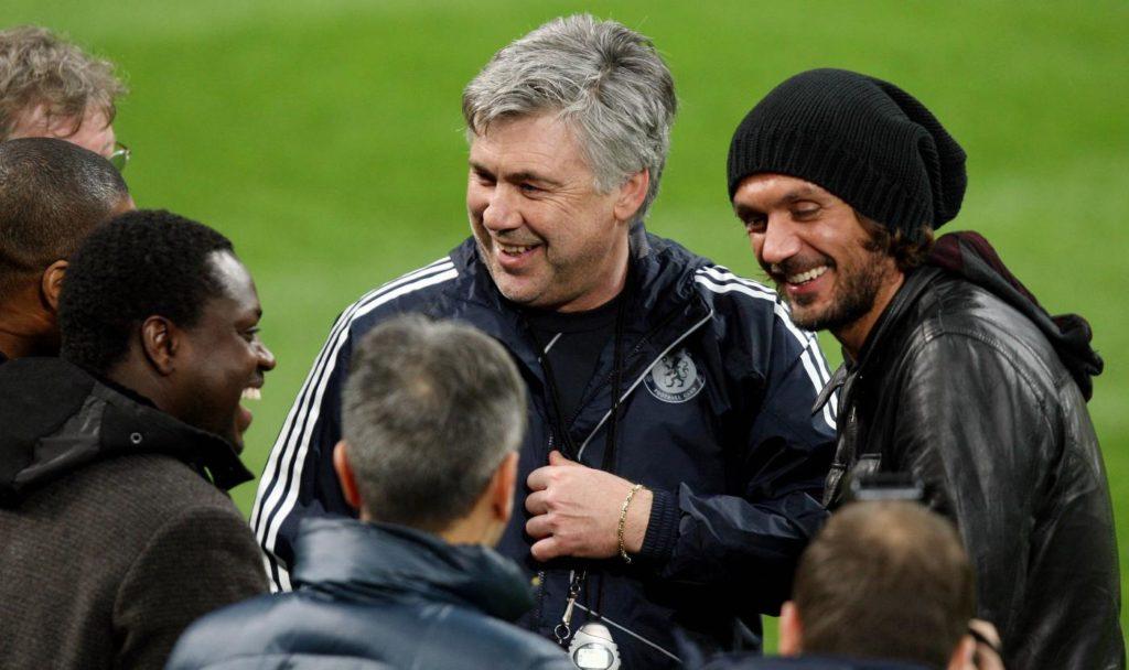 Ancelotti e Maldini - ph Lapresse
