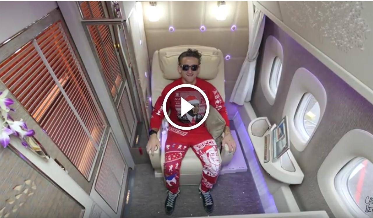 Voli extralusso youtuber ci svela l incredibile e for Ba cabina di prima classe