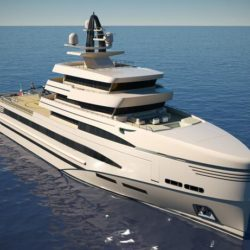 Rosetti Superyachts 85m expedition supply vessel