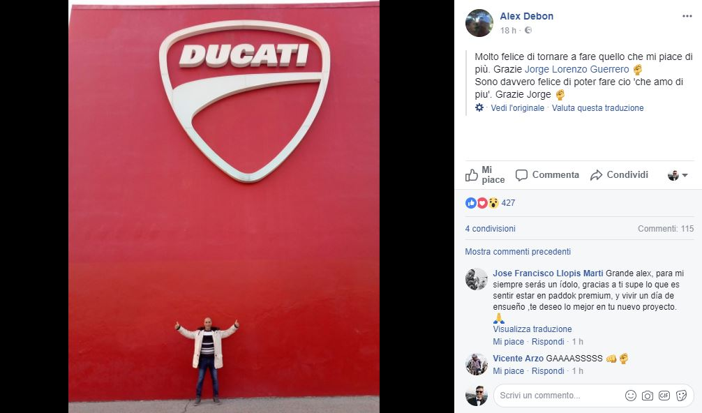 MotoGP: Alex Debon sarà il coach di Jorge Lorenzo nel 2018