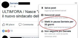 facebook metti in pausa