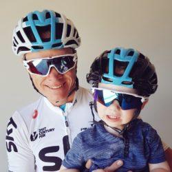 Chris Froome e suo figlio