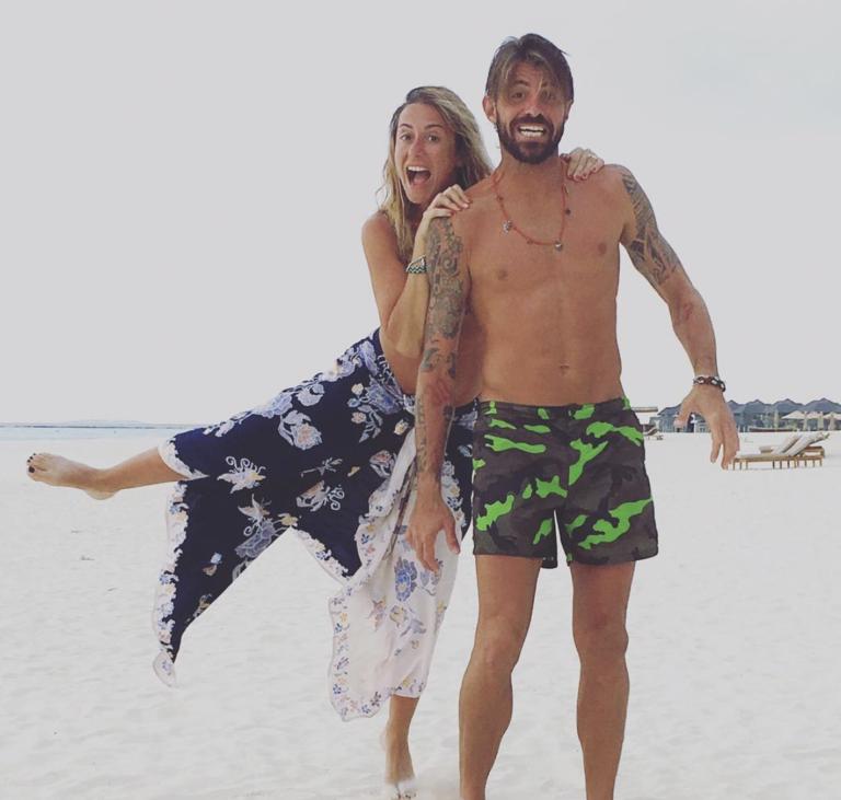 Marco Storari alle Maldive per il suo 41esimo compleanno - Instagram @veronicazimbaro