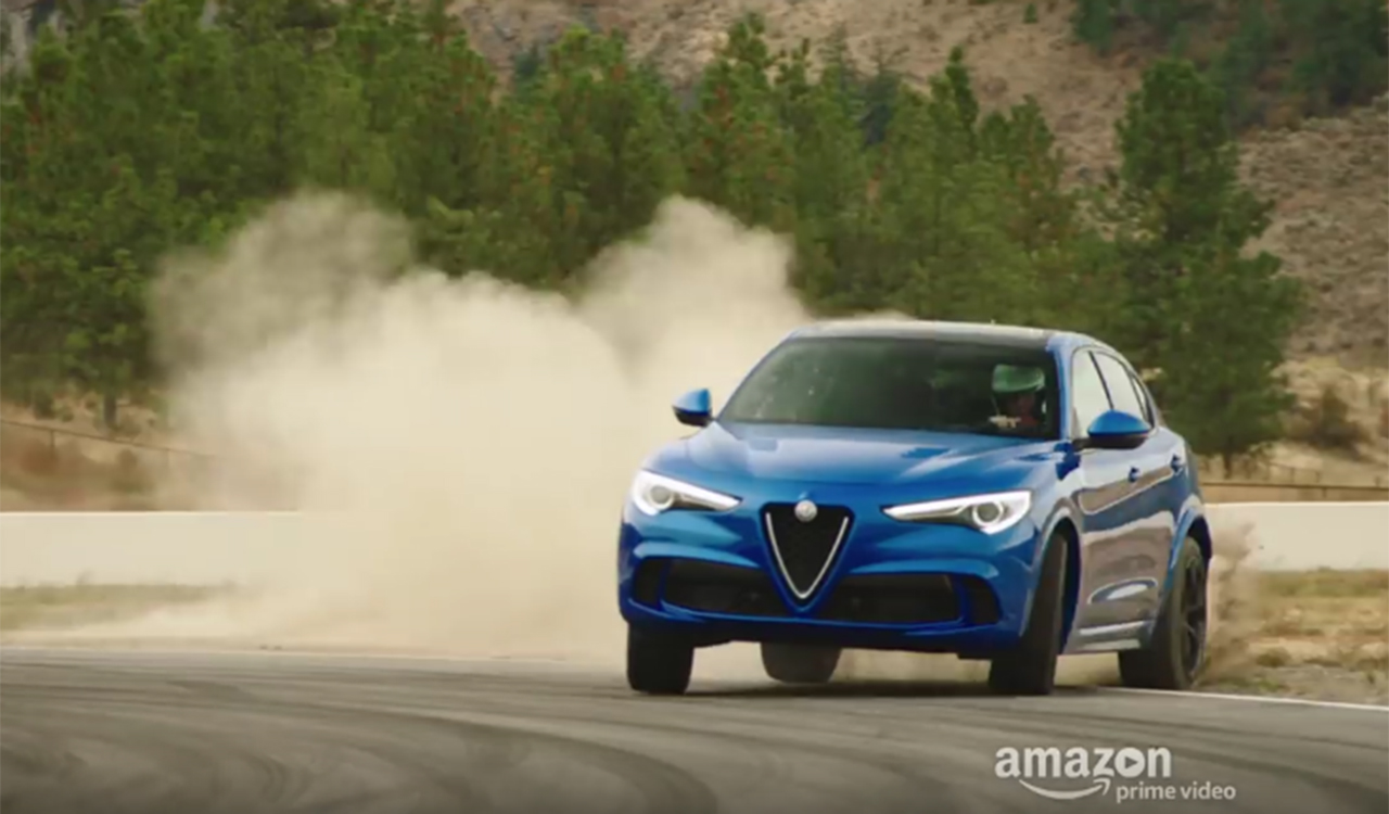 the grand tour l alfa romeo stelvio quadrifoglio da 510 cv protagonista del decimo episodio video. Black Bedroom Furniture Sets. Home Design Ideas