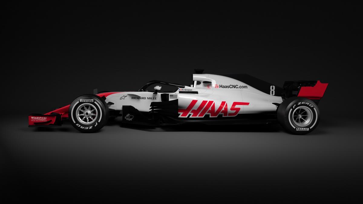 F1: ecco le prime immagini della HAAS VF-18