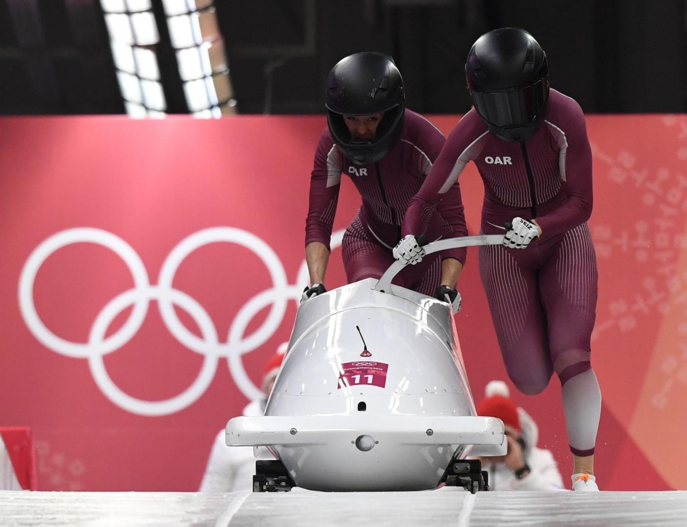 Olimpiadi Invernali - Nuovo caso di doping a PyeongChang, ancora un'atleta russa positiva ad un controllo effettuato fuori competizione. Una notizia che turba la federazione, che potrebbe perdere la possibilità di sfilare con la propria bandiera alla cerimona di chiusura - AFP/LaPresse