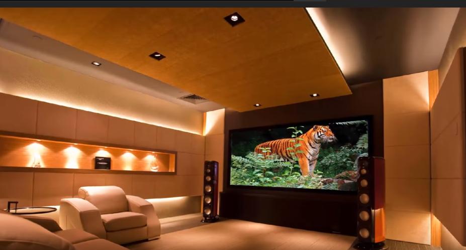 La zona cinema della casa di Cristiano Ronaldo arricchisce ancor più di confort la villa dell'attaccante.