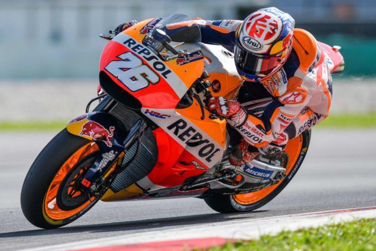 MotoGp - Dani Pedrosa è il più veloce della terza e ultima giornata di test in Thailandia. Bene la Honda con Crutchlow e Marquez rispettivamente 3° e 4°. Yamaha ancora in serie difficoltà. (AFP/LaPresse)