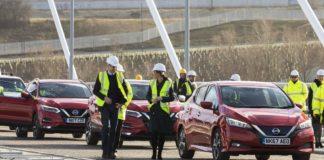 Nuova Nissan LEAF: i duchi di Cambridge passeggiano a Sunderland a bordo della 100% elettrica