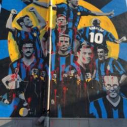 Inter murales vandalizzato