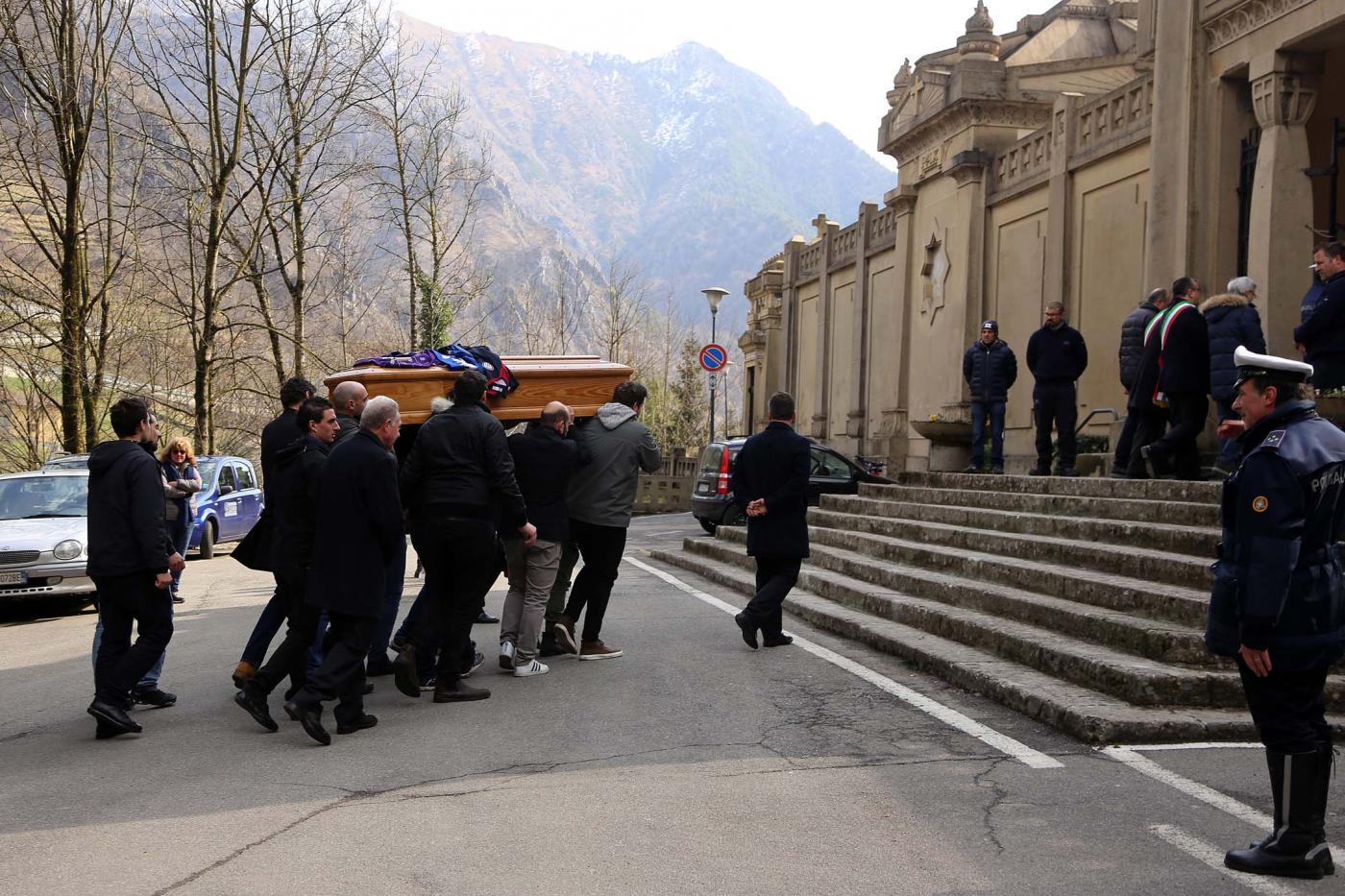 Astori sepolto a San Pellegrino