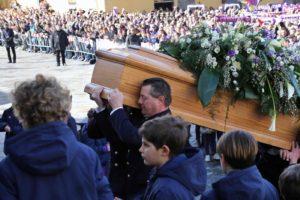 Funerali del capitano della Fiorentina Davide Astori nella basilica di Santa Croce
