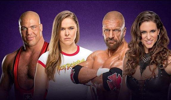 Ronda Rousey Kurt Angle WrestleMania 34