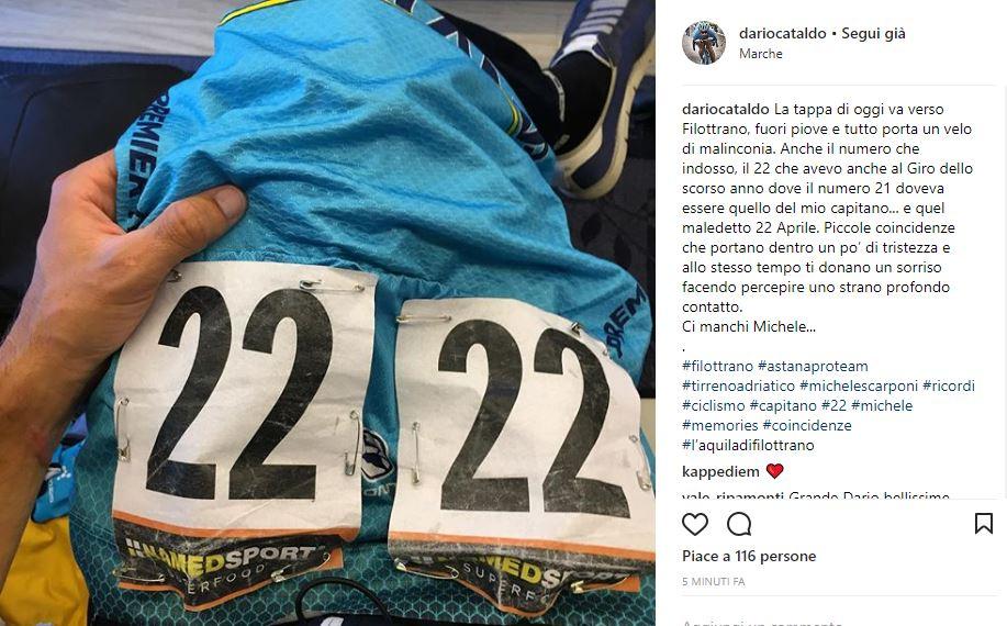 Tirreno-Adriatico, l'arrivo di Filottrano emoziona Aru: