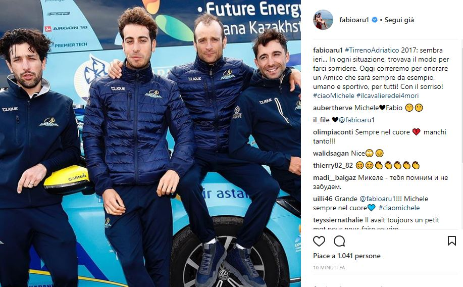 Tirreno-Adriatico, anche il pappagallo Frankye torna a Filottrano per Michele Scarponi