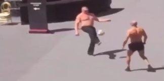 Brock Lesnar calcio The Greatest Royal Rumble