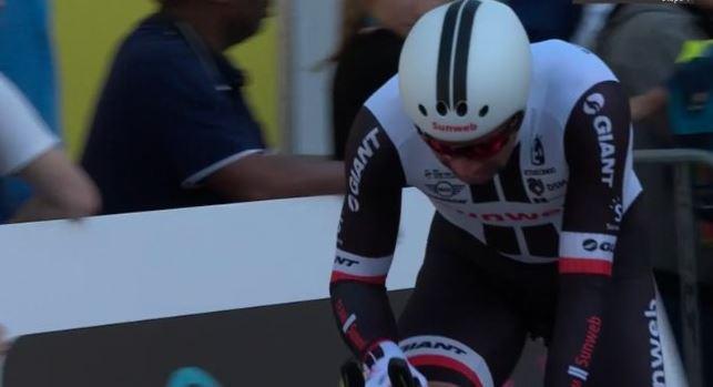 Ciclismo - Michael Matthews vince il prologo del Giro di Romandia davanti aTom Bohli della BMC e aPrimoz Roglic della LottoNL Jumbo